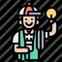 electrician, handyman, mechanic, repairman, technician icon