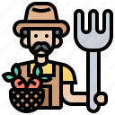 agriculture, farmer, harvesting, man, worker icon