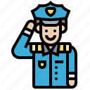 career, officer, policeman, security, uniform icon