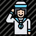 crewman, nautical, navigation, sailor, uniform icon
