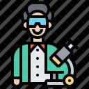 experiment, laboratory, researcher, scientist, technician icon