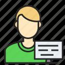 avatar, man, profession, programmer