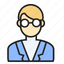 avatar, man, profession, scientist icon