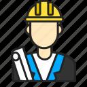 architect, avatar, man, profession