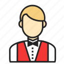 avatar, man, profession, waiter icon