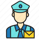 avatar, man, postman, profession icon