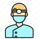 avatar, dentist, man, profession icon