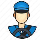 avatar, driver, profession icon