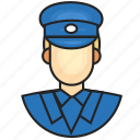 avatar, police, profession icon
