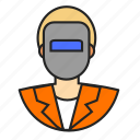 avatar, profession, welder icon