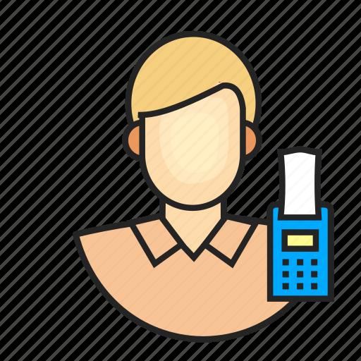 avatar, cashier, profession icon