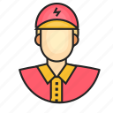 avatar, electrician, male, profession