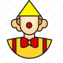 avatar, clown, man, profession icon