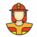 avatar, fireman, male, profession