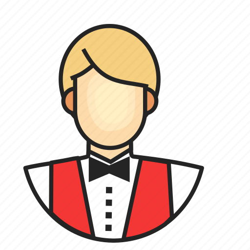 avatar, male, profession, waiter icon