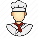 avatar, chef, male, profession