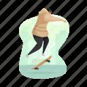 hobby, sports, skater, skateboard, man, activity