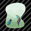 sports, golf, golfing, man, activity, hobby
