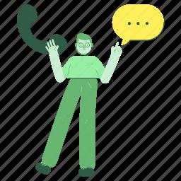 communication, man, male, person, call, conversation, phone, customer, service