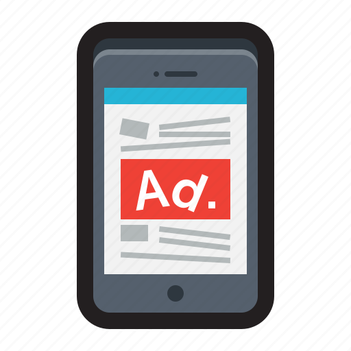 ads, advertisement, fake, iphone, mobile, news, popups icon