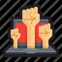 activism, cyber, hacking, hacktivism, hacktivist, movement, propaganda icon