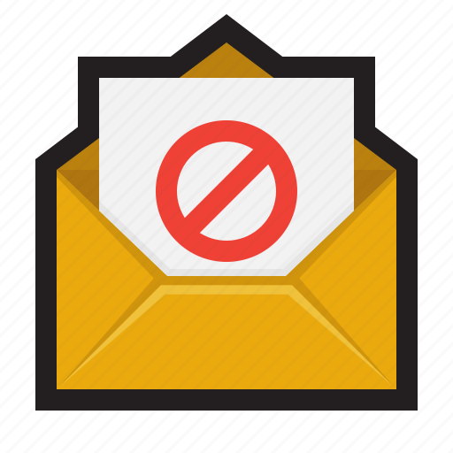 block, email, envelope, mail, message, spam, spyware icon