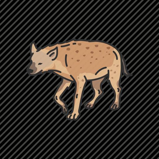 Aardwolf, animals, hyena, mammal, scavenger icon - Download on Iconfinder