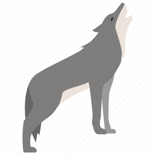 dog, grey, howling, pack, timber, wild, wolf icon