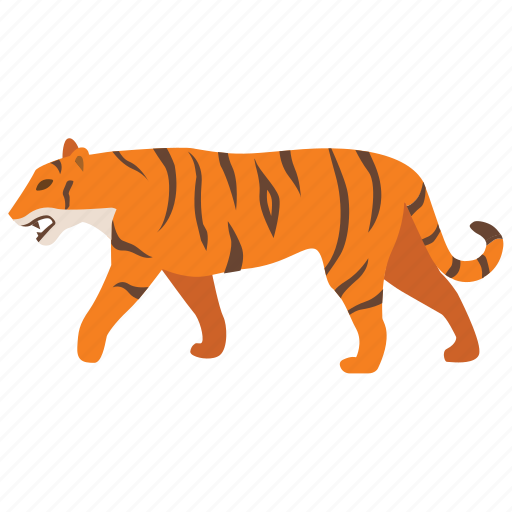 animal, big, cat, tiger, tigress, wild, zoo icon
