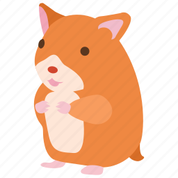 cute, golden, hamster, mouse, pet, rodent icon