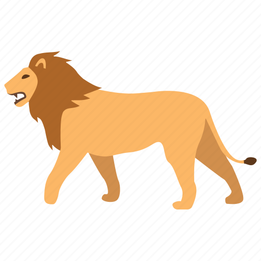 africa, animal, big, cat, lion, male, pride icon