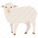 agriculture, farm, lamb, merino, mutton, sheep, wool icon