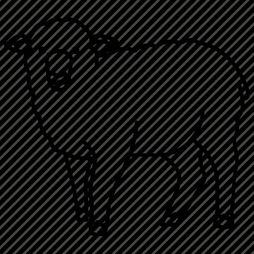 agriculture, farm, lamb, merino, mutton, sheep, wool icon