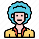 afro, avatar, casual, man, men, profile, user icon