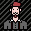 avatar, beard, casual, man, men, profile, user