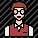 avatar, casual, glasses, man, men, nerd, profile
