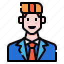 avatar, business, casual, man, manager, men, profile icon