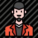 avatar, beard, man, men, profile, skinhead, user