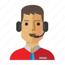 avatar, casual, man, service, staff, work icon