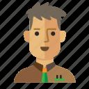 avatar, casual, man, service, staff, work