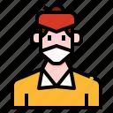avatar, bun, hair, man, mask, people, user