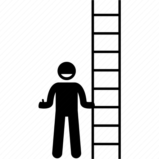 holding, ladder, man icon
