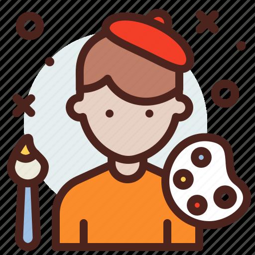 artist, avatar, hire, job icon