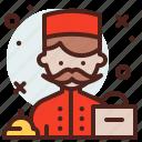 avatar, bellhop, hire, job icon