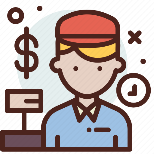 avatar, casheer, hire, job icon