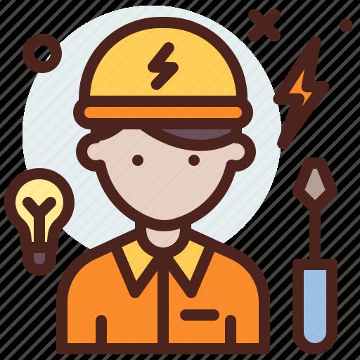 avatar, electrician, hire, job icon
