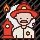 avatar, firefighter, hire, job