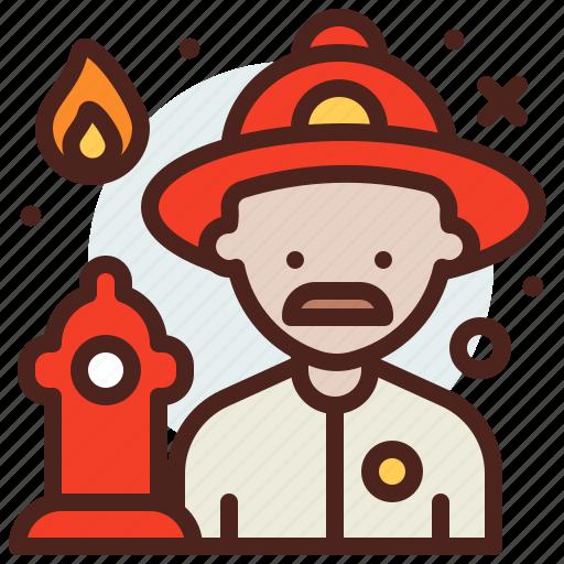 avatar, firefighter, hire, job icon