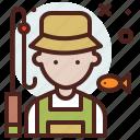 avatar, fisherman, hire, job icon