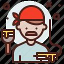 avatar, hire, house, job, painter icon
